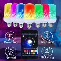 E26 Smart LED Flamme Effet Ampoule bluetooth 4 Modes Avec Tête vers le Bas