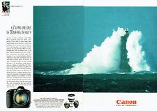 Publicité Advertising 078  1995   Appareil photo Canon EOS -1N (2p) PH. Plisson