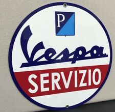 Italian Vespa  Servizio Service Metal Garage Sign Reproduction