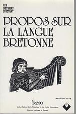 Propos sur la langue bretonne - Mars 1990