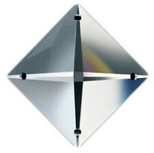 Set of 10 - 22 mm - Clear Asfour Crystal 2024 Square Crystal Prisms, 4 Holes