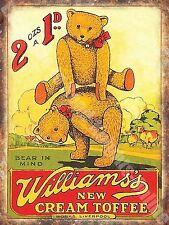 Vintage Food, 98, Williams's Toffee, Teddy Bear Old Shop, Novelty Fridge Magnet