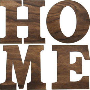 4 Pieces 12 Inch Wooden Home Letters Large Home Sign for Home Wall Decoration