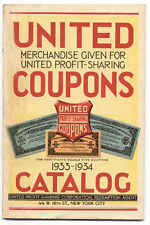 1933-34 CATALOG UNITED COUPON ITEMS SPORTS ETC **NOW ON SALE** AD75