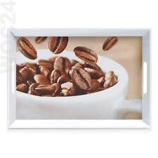 50 x 35 Kunststoff Melamin Serviertablett Frühstückstablett Tablett Kaffee Braun