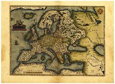 Old Vintage Europe map Ortelius ca. 1570