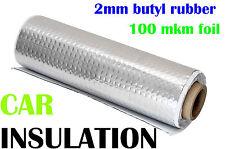 1 Rolle 50x800 cm Alubutyl Dämmmatte 2 mm Bitumen-Ersatz Anti-Dröhn Matte 4 qm
