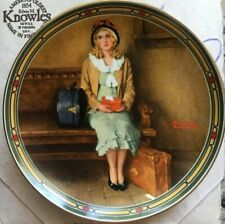 """Edwin Knowles """"A Young Girl's Dream"""" by Norman Rockwell 8.5 Inches Coa & Booklet"""