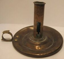 Old Antique Heavy Brass Candle Holder
