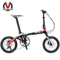 Sava Z2 16'' Carbon Fiber Frame Folding Bicycle Mini City 9 Speed Foldable Bike