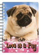 PUG 3D NOTEBOOK, LOVE IS A PUG, Ideal Christmas stocking filler