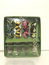 NEW Boston Warehouse Bugs Bees PicNic Spreaders Set of 4 Stainless Steel