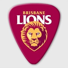 Brisbane Lions AFL Guitar Picks * 5 Team Logo Picks
