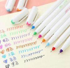 Korea Monami Jell Line 208 gel pen color color pen 0.4MM 8 color