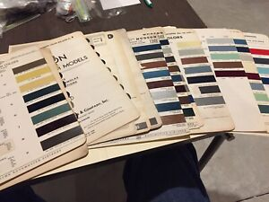 RARE VINTAGE HUDSON PAINT CHIP SHEETS.  YEARS 39-56.  LOOK