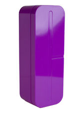 """Clinique Purple """"C"""" Logo Shape Print Plastic Cosmetic Makeup Travel Case"""