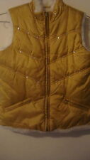 Gold Reversible Vest Girl Size 10/12 Warm Puffy &  Pretty The Children's Place