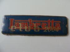 Placca Lambretta club 2004 Innocenti Milano 200 TV 150 LD old scooter