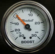 "Marshall Comp II 3211 Mecanical Vacuum Boost Gauge 2 5/8"" White Dial 30HG 30PSI"