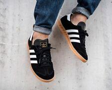 NEW Adidas Hamburg Black Suede / White Stripe  Men's 8.5  spezial samba