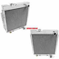 1965-1966 Ford Mustang 2 Row Aluminum Radiator, Champion (hoses pass/pass)