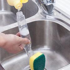 Soap Dispensing Scrubber Kitchen Cleaning Brush Refill Dish Brush Long Handle
