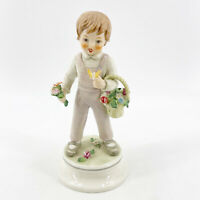 "Vintage 1970  Goebel Lore #247 ""The Boyfriend"" Figurine Basket of Flowers"
