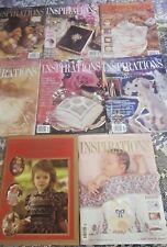 Bulk Lot INSPIRATIONS Embroidery magazine 4, 6, 15, 16, 17, 18, 20 Smocking