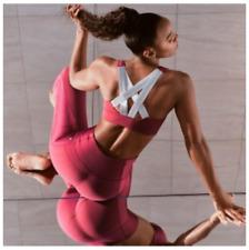 FABLETICS High Waist PowerHold Shine 7/8 Legging Chili Red Run Yoga Pants sz M
