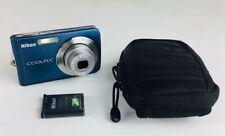 Nikon COOLPIX S210 8.0MP Digital Camera - Blue With Carrying Case