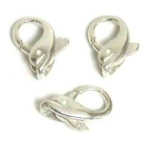 3 Dolphin Clasps Lobster Sterling Silver Chain Parts