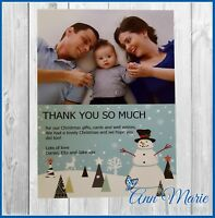 10 x PERSONALISED XMAS CHRISTMAS THANK YOU FOR MY GIFTS THANKS CARD W/ ENVELOPES