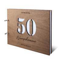 Runder Geburtstag Gästebuch 50 Jahre individuell 215x215mm Girlande