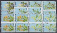 Sao Tome Mi Nr. 1036 - 1040 4er Blocks, TOP rund gest., Pflanzen 1988, used
