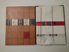 Nebel Cuban Heel White 511 Stockings 10-1/2x33 Long Plain Seam Non Run Vintage