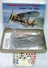 AER SRL~#7204~1:72~Polikarpov I-153 Chaika~WW2 Soviet/USSR Fighter~Plastic Kit~