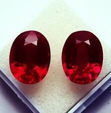 Natural Ruby Loose Gemstone 8 to 10 cts 2 Certified Pair Best Offer