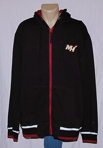 Miami Heat Mens Hoody G-III Sports Full Zip Sweatshirt Black XL