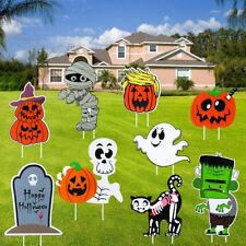 FunsLane Halloween Yard Signs with Stake, for Outdoor Lawn Yard.