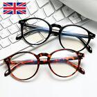 Retro Round Blue Light Blocking Glasses Frame Optical Eyewear Computer Glasses