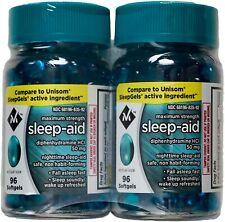 Sleep Aid Sleeping Pills Members Mark Diphenhydramine 50mg (192 ct.) Exp 09/2022