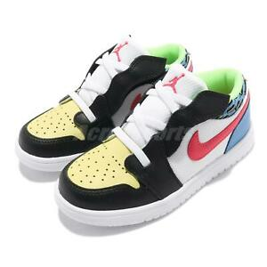 Nike Jordan 1 Low ALT TD Funky Patterns Toddler Infant Casual Shoes DH5928-006