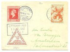 NETHERLANDS 1945-7-19  COVER  RAKET POST = ROCKET MAIL= SPEC LABEL  VF