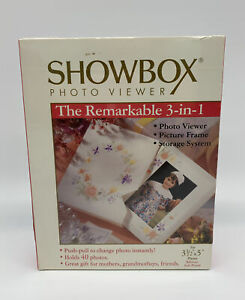 NEW SEALED Showbox Floral Edition  Photo Viewer, Cycles 40 Photos Burnes