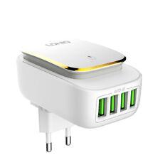 4,4A USB Adapter 4fach Ladeadapter 230V LED Wandlicht für Steckdose Ladegerät ID
