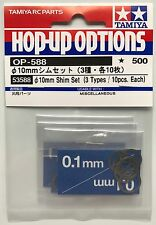 Tamiya 53588 10 mm Shim Set (3 Types/10 chacun) (DB01/TB02/TB03) Neuf sous emballage