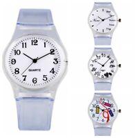 Kids Quartz Watch Analog Wristwatch Soft Silicone Watch Band Round Dial Gift