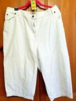 Mainstreet BLues Womens Plus Size 22W White Denim Capri Crop Jeans