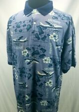 Woods and Gray Hawaii Men's Polo Blue Element XXL New with Tags