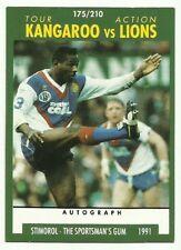 1991 NRL SCANLENS STIMOROL #175 KANGAROOS VS LIONS TOUR CARD